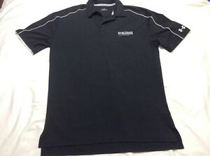 UNDER ARMOUR UA Black Waffle Knit LOOSE FIT SHIRT TOP POLO River Strand Golf
