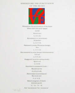 Robert Indiana, The Book of Love Poem - Wherefore the Punctuation of the Heart,