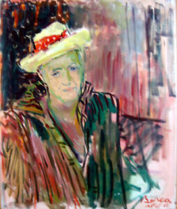 Dimitrie Berea The Yellow Hat of Mr. Jaque Salvi Oil Painting