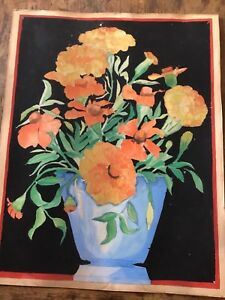 Antique Painting Of Flowers $30.00