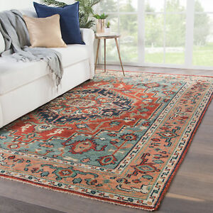 Bloomsbury Market Ed Hand-Knotted Wool RedBlue Area Rug