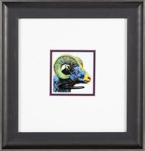 Andy Warhol Big Horn Ram Hand Signed Endangered Species Gallery Invitation