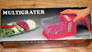 MULTIGRATER FOOD GRATER WITH BIN RED