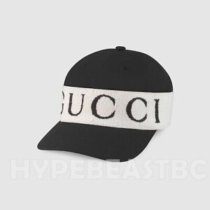 Gucci Baseball Hat Cap with Logo Headband Wrap Black White Mens Size XL NWT