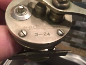 Very Rare 1920 Heddon 3-24 German Silver Casting Reel