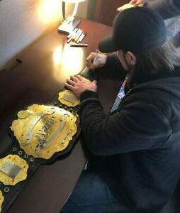 AJ Styles Autographed IWGP Heavy Weight Title NEW JAPAN Bullet Club WWE TNA
