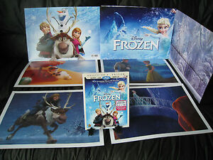 Disney Store~FROZEN Collectors Limited Edition 2 BluRay DVDs DigitalLithographs