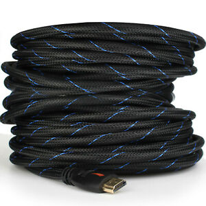 Braided-Short&Long Ultra HD HDMI Cable US Lot - 3ft 6ft 10ft 25ft 30ft 50ft 66ft