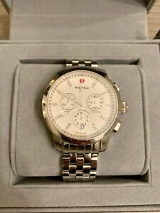 Michele Uptown Bracelet Watch With Diamonds Includes Box And Extra Links!