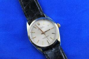 1967 Rolex Oyster Perpetual Steel & Gold Cap No Date Men's Watch 1024
