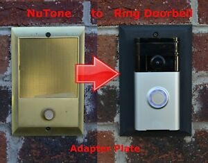 Ring Doorbell adapter plate Nutone and M&S intercom systems STAINLESS STEEL