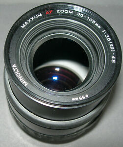 Minolta Maxxum 35-105mm f3.5-4.5 AF Zoom Lens Tested In Working User Cond