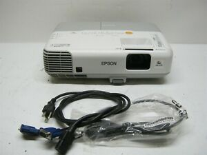 Epson PowerLite 93+ 3LCD H382F Multimedia Projector 3239 Hours w Power Cord