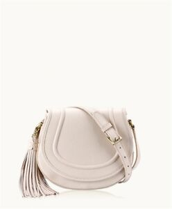 Gigi New York white 'Jenni' saddle bag cross body purse