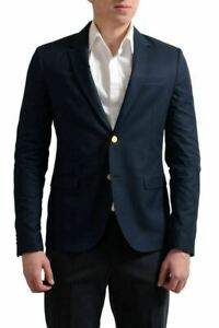 Valentino Men's Navy Blue Two Button Sport Coat Blazer US 38 IT 48