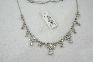 Givenchy Silver Tone Crystal Necklace RV$98 532258 $32.99