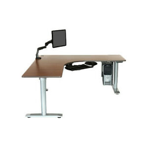 Populas Furniture Vox L-Shape Standing Desk with Bow Front