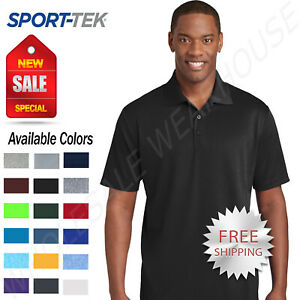 NEW Sport Tek Mens Cool Dry Fit Wicking Performance Golf Polo T Shirt ST640 $10.95