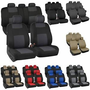 Auto Seat Covers for Car Truck SUV Van Universal Protectors Polyester 8 Colors