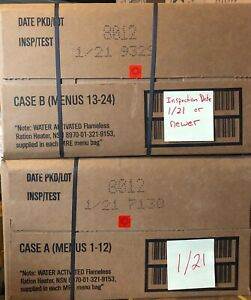 Military MRE 012021Inspection Date A and B Case