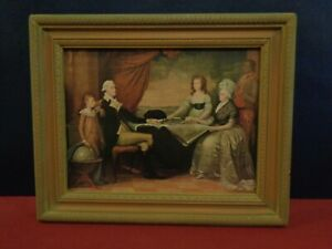 George Washington Family Painting Edward Savage Framed Reproduction 13 x 10.5 in