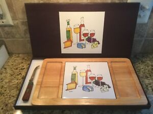 Ursula Dodge Cheese & Wine Cutting Board With Knife