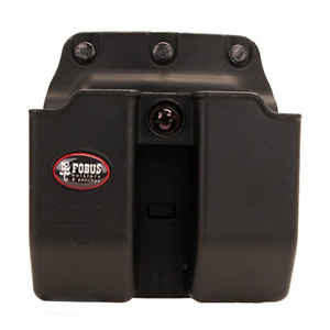 Fobus Double Mag Pouch 9mm 357 and 40 Calibers Belt, Black