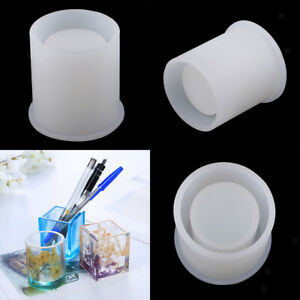 3Sets Brush Pot Diy Silicone Molds For Resin Casting Moulds Jewelry Making