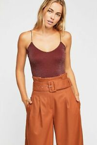 New Free People Womens Seamless Cami Tank Top Sparkle Skinny Strap Brami $20