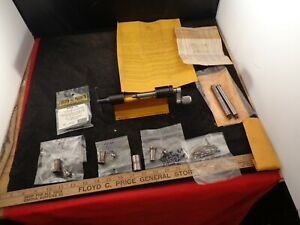 LOT OF FORSTER CASE TRIMMING TOOLS ORIGINAL TRIMMER W COLLETS PILOTS