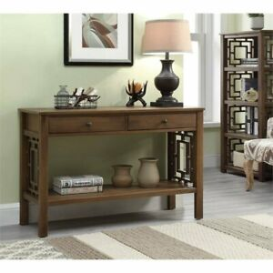 Riverbay Furniture Console Table in Rustic Brown $199.35