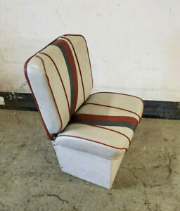 Marine Fishing Boat Fixed Back Chair Seat with Plastic storage base