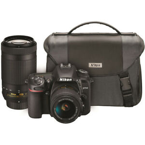 Nikon D7500 DSLR Camera with 18-55mm and 70-300mm VR Lenses Kit *USA AUTHORIZED*