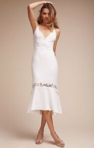 NEW $595 BHLDN Nicholas Amina Dress Size 2 White Wedding Bridal Honeymoon