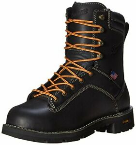 Danner Men's Quarry USA 8-Inch Alloy Toe Work Boot Color BLACK