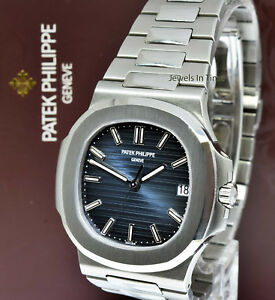 Patek Philippe Nautilus Stainless Steel Blue Dial Watch BoxPapers  57111A-010
