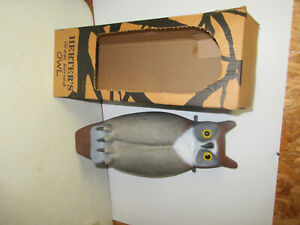 HERTERS MINT IN BOX VINTAGE GREAT HORNED OWL DECOY
