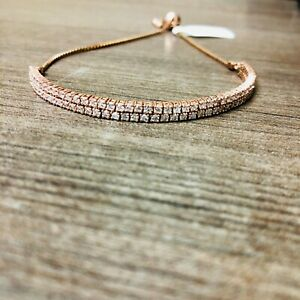 14kt Rose Gold Bollo 2.14ct Diamond Bracelet