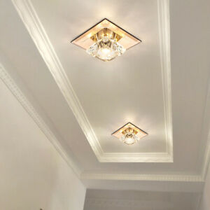 LED Ceiling Downlight Crystal Light Fixture Recessed Surface Mount Lamp Hallway