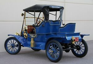1911 Ford Model T Roadster Brass Era Oldtimer Mother in Law Seat Brass Era Model T Roadster Runabout  Shiny Brass Era as a Packard or Cadillac
