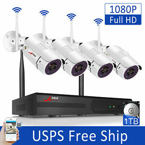 ANRAN Wireless Home CCTV Security System Outdoor WIFI Camera with 1TB HDD System