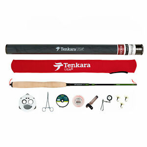 Tenkara USA -Rhodo Fly Rod & Accessories Kit with Level Line and Line Keeper