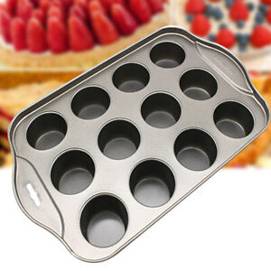 Pan 12 Cup Mini Non-stick Tool Removable Easy Clean Bakeware Muffin Cheesecake