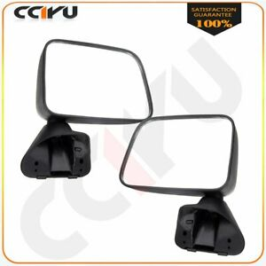Manual Side View Mirrors Pair for 1987 1988 1989 Toyota Pickup 4Runner w/Vent