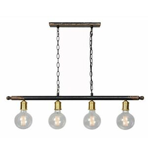 Island Light Fixture Sleek Designer Aged Black Finish