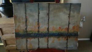 Antique Painting Signed Claude Monet Poplars on the bank of a river  $12000.00