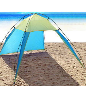 Pop Up Beach Tent Sun Shade Triangle Patchwork Outdoor Camping Canopy Shelter