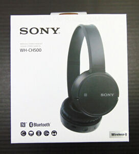 Sony WH-CH500 Stamina Wireless On-Ear Bluetooth Headphones WHCH500B Black