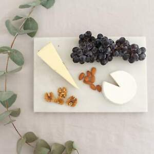 Natural Marble Serving Platter, Matte White, Charcuterie, Pastry, Cheese Board