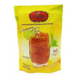 Thai Iced Hot Milk Lemon Tea Instant Powder 3 in 1 Thai Tea Number one Brand